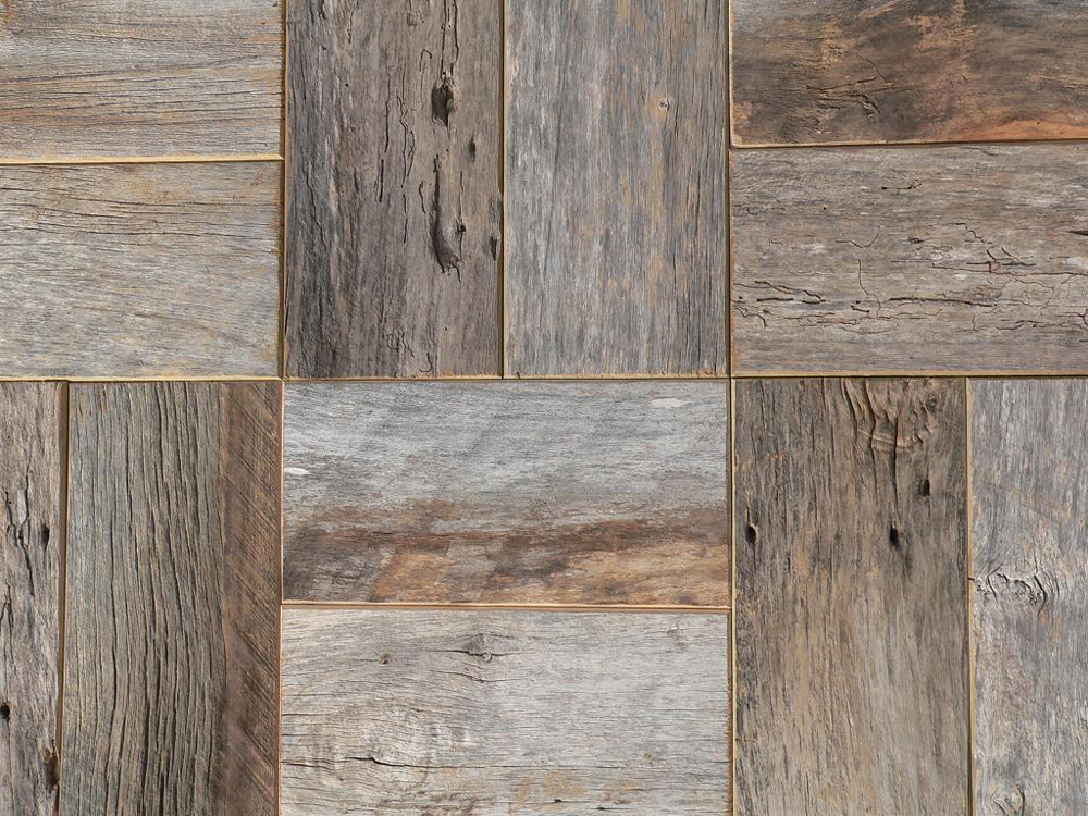 Barn wood at the galleria for Recycled hardwood