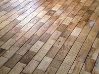 Brick and Basket Weave Pattern wood tiles, Barnwood Bricks