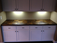 Barnwood Bricks Reclaimed Walnut Bricks Countertop