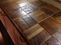 Barnwood Bricks Walnut Countertop