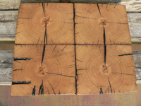 Barnwood Bricks 10 by 10 end grain reclaimed oak flooring wood tiles