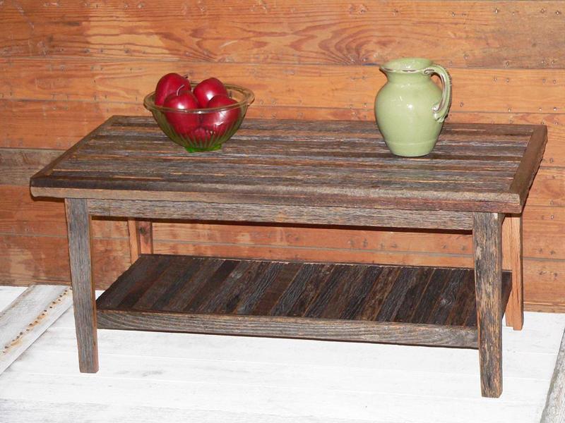 Grey Board Barn Wood Coffee Table