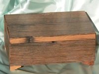 reclaimed oak trinket box
